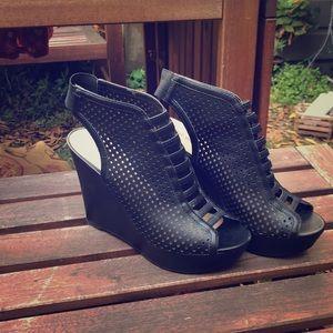 laser cut high heels